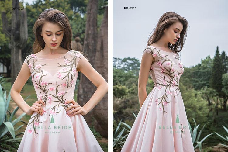 2cd71e8cb8a18e Blush roze trouwjurk vrouwen bruiloft jurken soft satin japon gast  trouwjurken