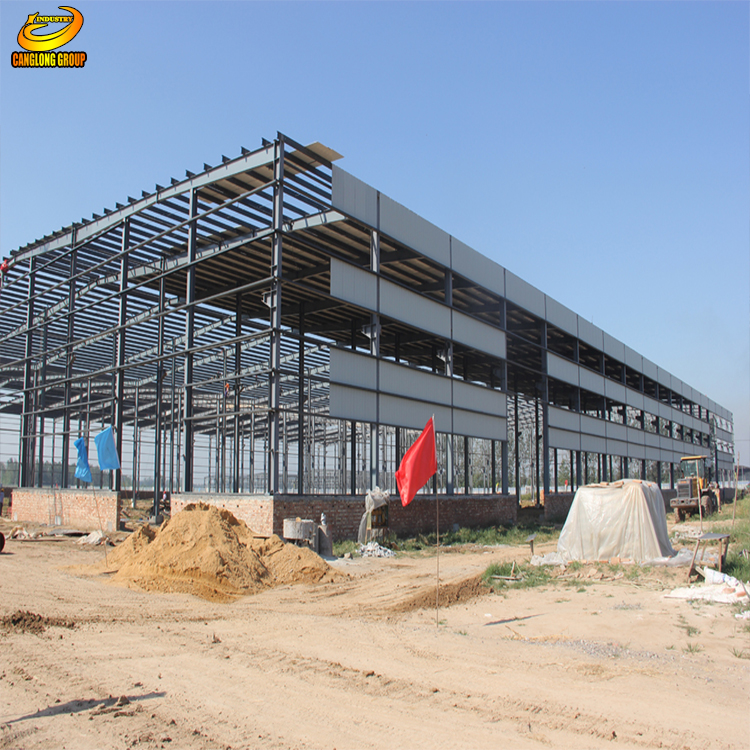 Low Cost China Prefab Structural Steel Warehouse/storage shed/building