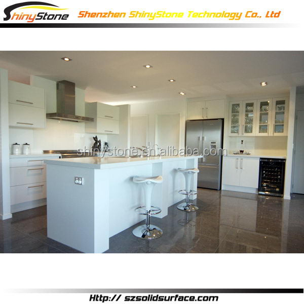 Graceful cafe bar acrylic solid surface kitchen and bedroom cabinets and doors