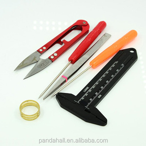 PandaHall Jewelry DIY Tool Set Rings Hand Scissored and other Tools Platinum Mixed Color 19~130x10~58mm