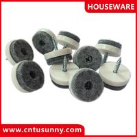 furniture plastic feet nails felt pads on nail