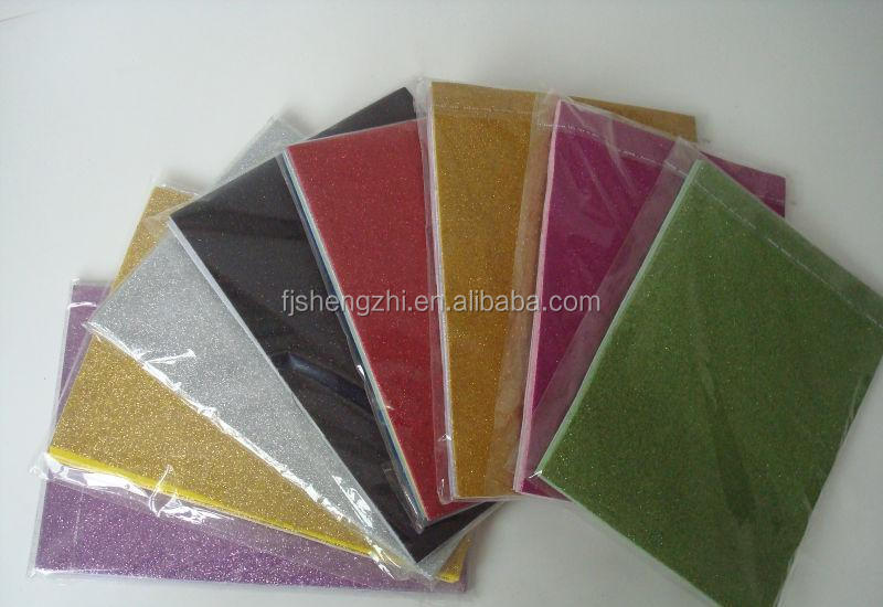 10 pcs 1 pack assorted color glitter goma eva sheet