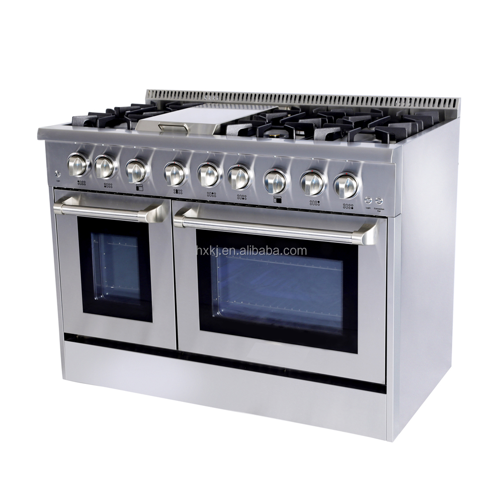 stainless steel gas cooking ranges with grill tops