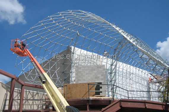 flexible customized design prefabricated barrel coal storage steel structure shed design