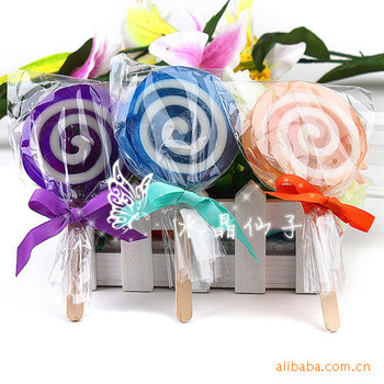 Ywbeyond Creative Design Lollipop Shaped Soap For Baby Shower Favors
