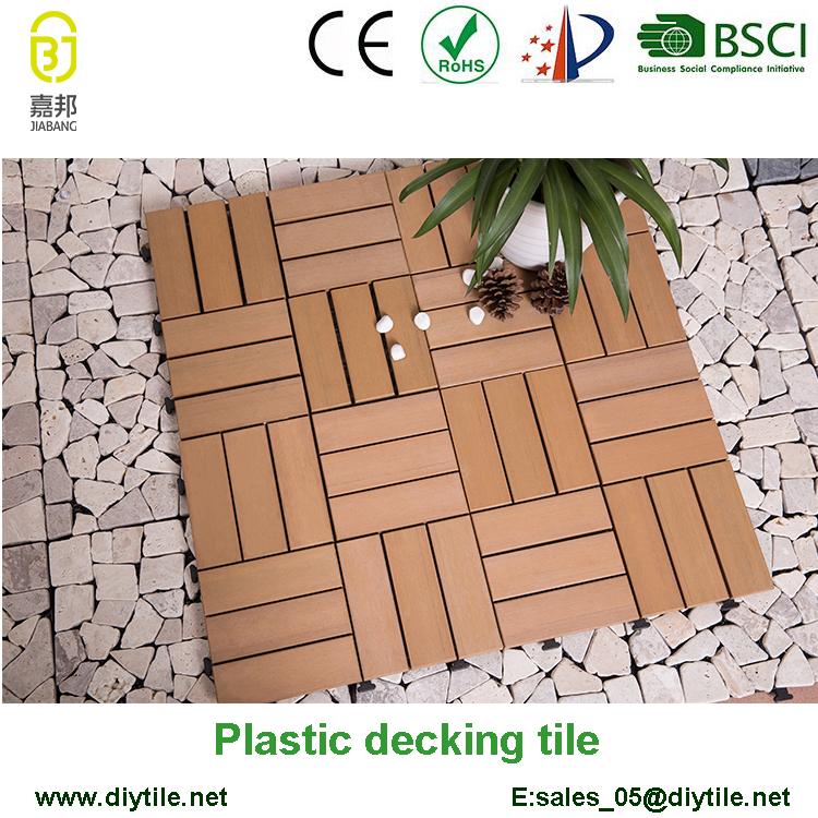 Wooden Imitate Interlocking Pvc Tiles