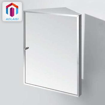 Triangle Stainless Steel Bathroom Vanity Mirror Corner Cabinets - Buy  Stainless Steel Bathroom Mirror Cabinets,Small Bathroom Corner Cabinet With  ...