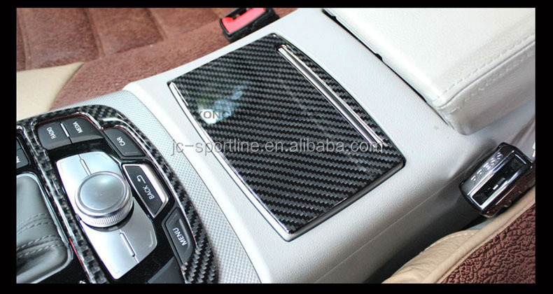 1pc set interior trims carbon fiber a6 interior decoration