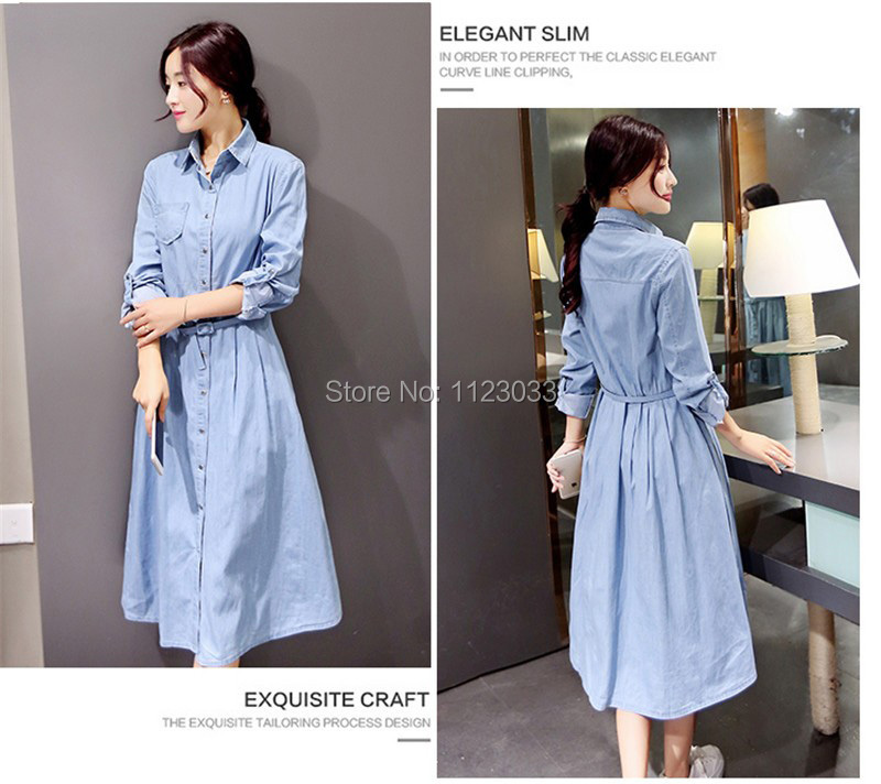 38e4f8ae476a 2019 Wholesale 2017 New Women Denim Dresses Spring Summer Casual ...