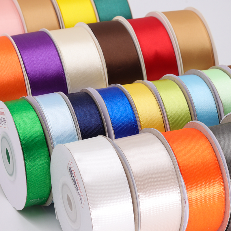 Wholesale 100 yard single face double faced satin ribbon