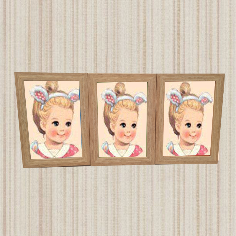 Multi window family tree MDF photo frame picture frame