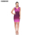 Women One Piece Sexy Dress Mini Bodycon Dress Dip Dye Bandage Dress