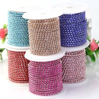 Crystal Diamond Beads For Jewelry Making Rhinestone Cup Chain Trimming Glass Cup Chains Jewelry DIY Accessories