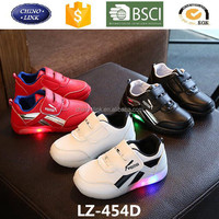 2017 fashion chargeable flash night luminous sneakers children light up kids led shoes for Girls Boys