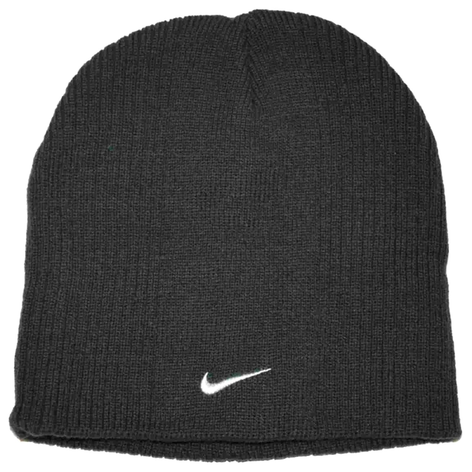 37cadfa3 ... sale get quotations nike small check youth boys 8 20 ribbed beanie hat  anthracite 2d483 f28a0