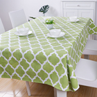 Custom table linen dining tablecloth polyester fabric rectangle table cloth with Modern Design Printed Spill Proof Cloth