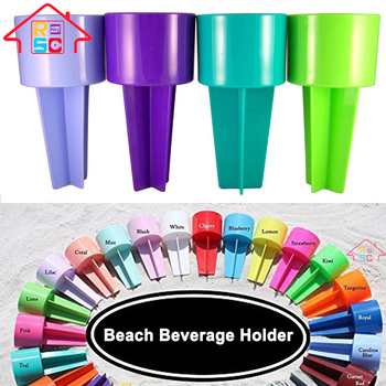 Promotion Plastic Beach Buddy Beverage Drink Sand Coaster Cup