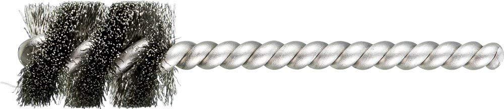 """PFERD 83397 SpyraKleen Tube Brush, Single Stem/Spiral, .005"""", Stainless Steel Wire (INOX), 3/4"""" Diameter, 1/4"""" Stem, 1"""" Brush Part Length (Pack of 36)"""