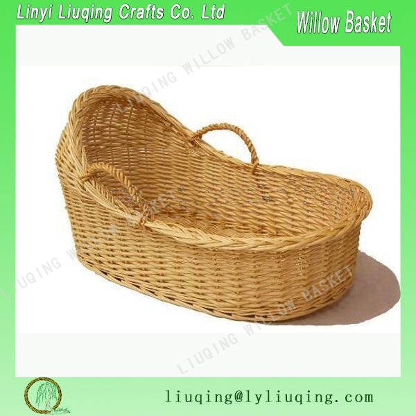 wholesale willow wicker baby moses carrier basket