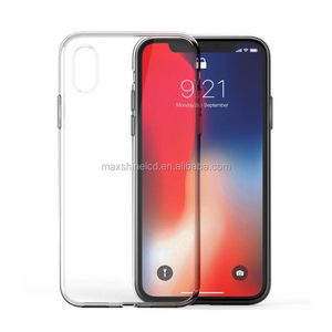 For iPhone X Ultra Thin Soft TPU Transparent Phone Cover Case