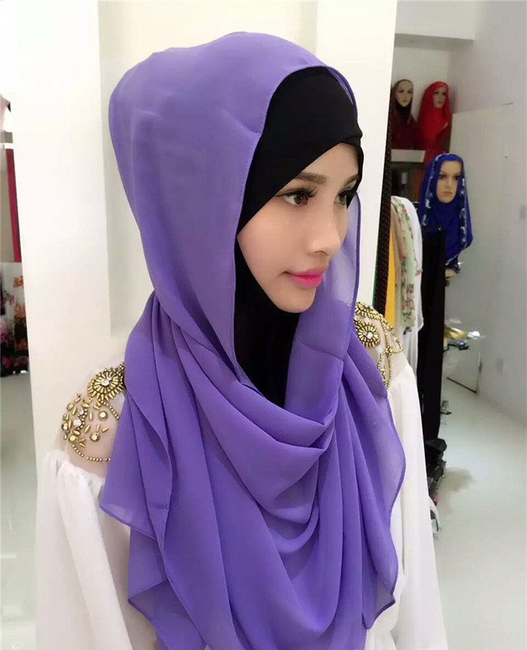 Imitated silk fabric fashion exquisite india muslim arab girls dubai hijab wholesale