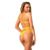 18 teen Young Girl Hot Sexy Bikini Yellow Strappy Caged High Waist Bikini Mini Micro String Bikini Women