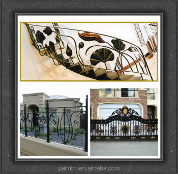 OEM and ODM wrought iron grills and rosettes for fencing gates and stairs