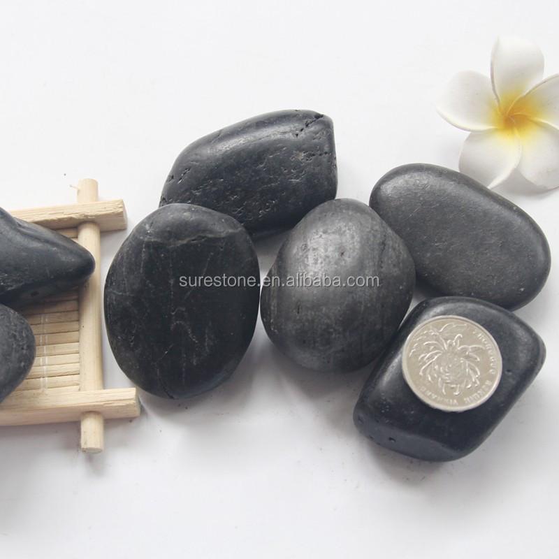 Nanjing naturale di grandi dimensioni nero lucido ciottoli di fiume nero, pietra, roccia di 30-50mm