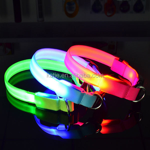 New Dog Supplies LED Flashing Sport Dog Collars