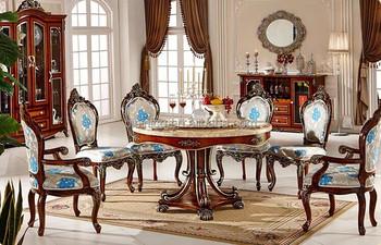 Tavoli Da Pranzo Di Lusso.Stile Europeo Set Da Pranzo Di Lusso Tavolo Rotondo Da Pranzo E