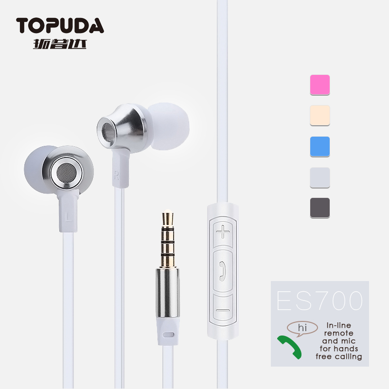 Luxury comfortable metal earphone noise cancelling headphones for note 7