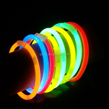 PE material 5*200mm with connectors chemical 8'' glow bracelet