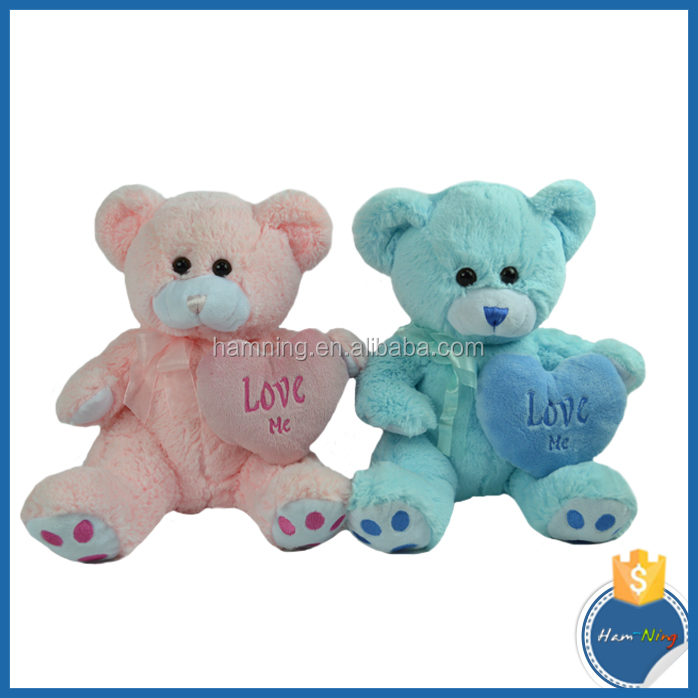 Loveable Plush Baby Doll Soft Blue Bear Toy
