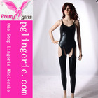 Sexy Tight Leather Catsuit Leather Bondage Catsuit Faux Leather Catsuit