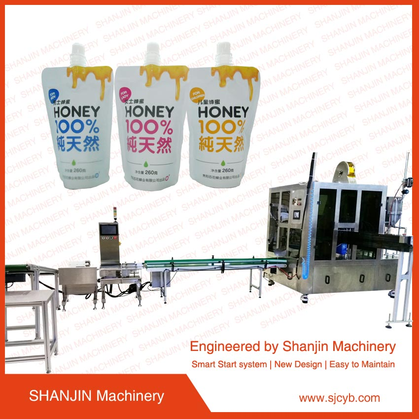 juice doypack standing up with spout satchet/pouch drink sealing machine/doy pouch fill and seal machine