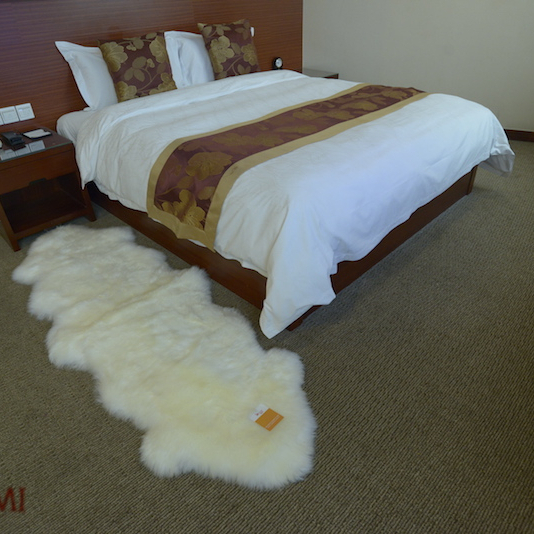 Two Pelt Extra Large Sheepskin White