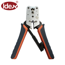 Modular plug crimping cutter networking cable tester tools for round wire flat wire