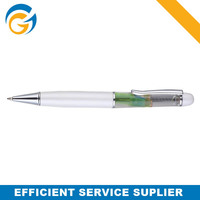 Liquid White Elegant Metal Ball Pen