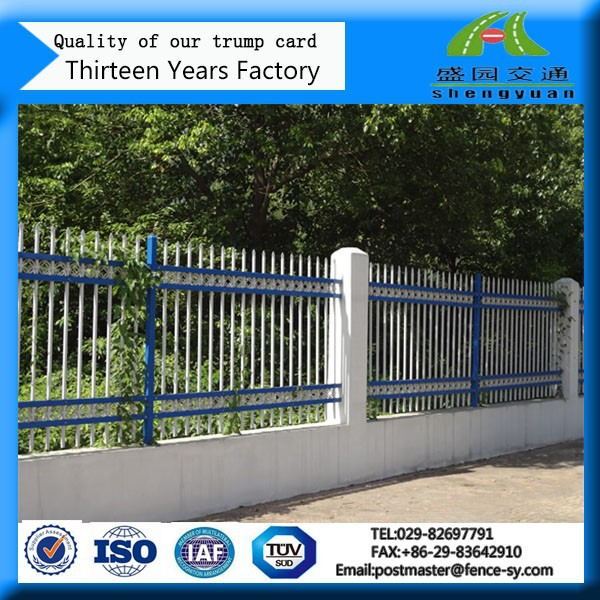 Palisade powder coated steel road gauteng fence