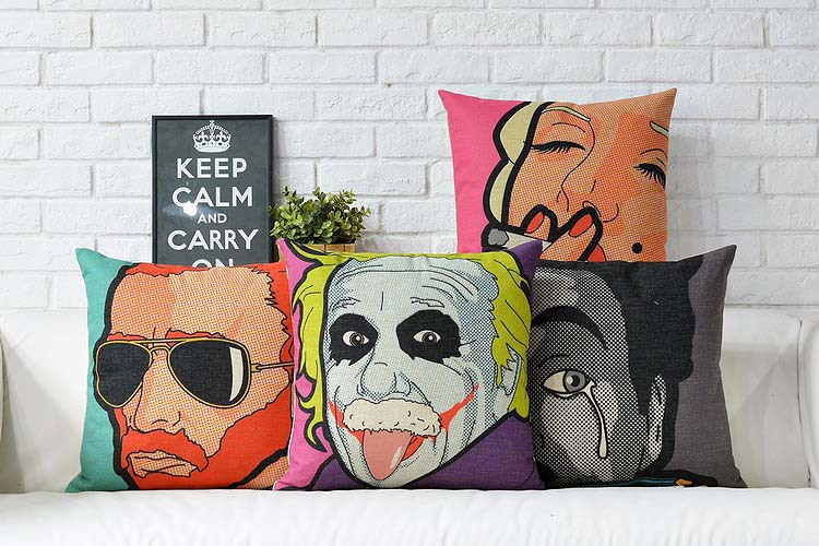 Free shipping Artistic Modern Pope Decorative Pillow Covers Creative Cozy Pillows For Sofa High-grade Home Pillow Decoration