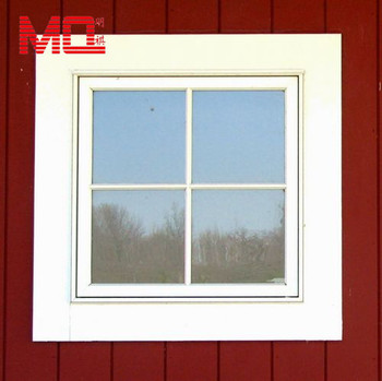 High Quality Upvc Windows With Grill Small Size Fixed