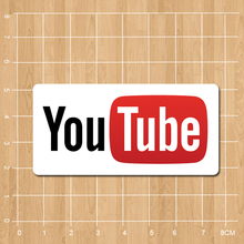 Youtube Logo Notebook refrigerator skateboard trolley case backpack Tables book sticker PVC sticker