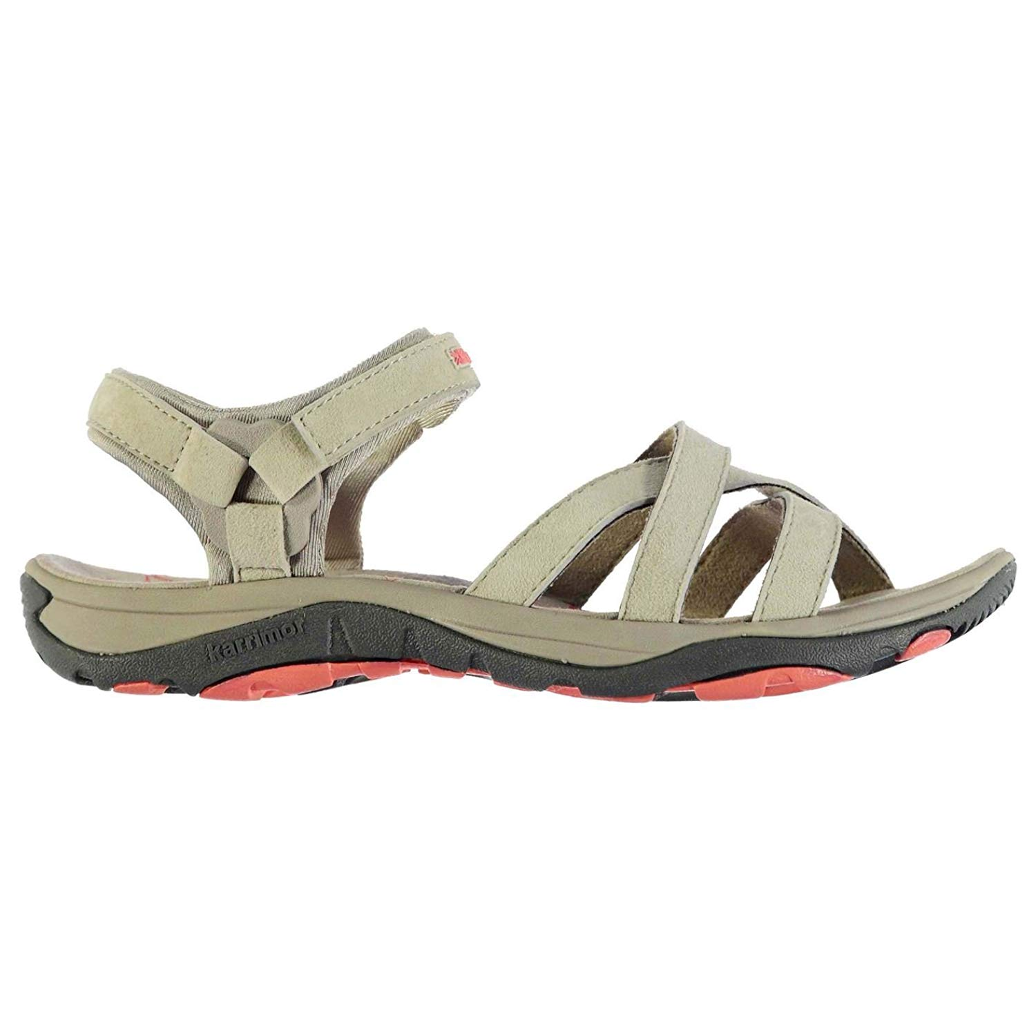 2be138ba551 Get Quotations · Karrimor Womens Salina Leather Walking Sandals Shoes Strap