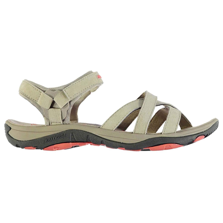 67d172796636d Get Quotations · Karrimor Womens Salina Leather Walking Sandals Shoes Strap