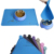 100% Platinum Silicone Paw Shape Dog Food Feeding Pet Mat