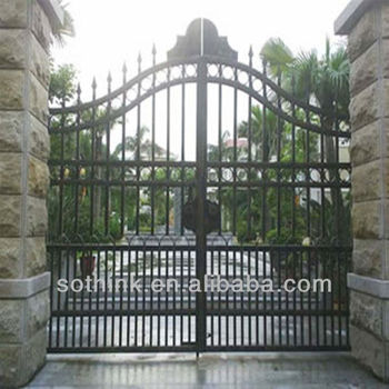 Cheap Sliding Modern Wrought Iron Main Entrance Gate Grill Designs ...