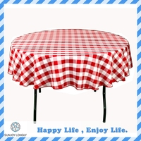 Cheap Waterproof Printed Flannel Back Peva Vinyl Round Table Cover,Round Tablecloth