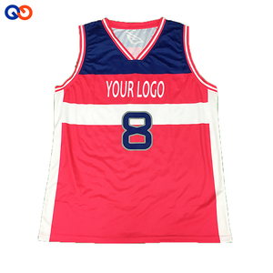 double face basketball jersey costume uniform design red