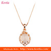 18k gold bijouterie natural diamond opal necklace