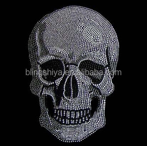 Clear Scary Skeleton Rhinestone Iron On Transfers For Halloween